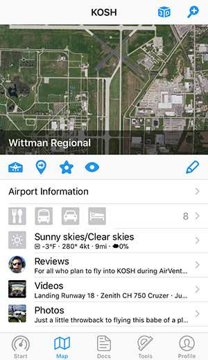 Get comprehensive airport information: Aviation weather with METAR/TAF, NOTAM and reviews. Complements IFR and VFR flight planning.
