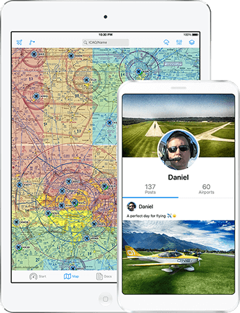 Features of the pilot app: Aviation weather with METAR/TAF, NOTAM and airport reviews. Complements IFR and VFR flight planning.