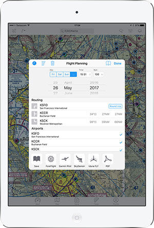 Export your flight ideas directly to ForeFlight, Garmin Pilot or SkyDemon.