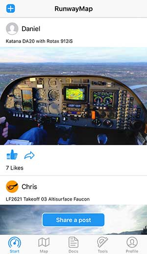 Share your flight experiences with other pilots